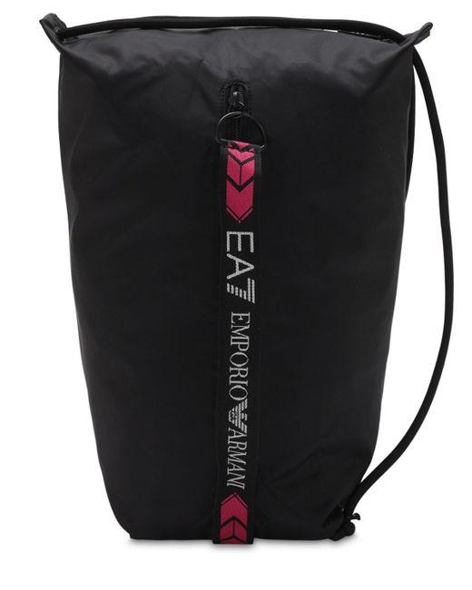 EA7 ロゴテープバックパック 18l Black