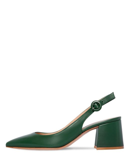 Escarpins À Bride En Cuir 60 Mm Gianvito Rossi en coloris Green