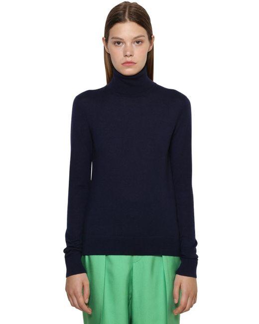 Ralph Lauren Collection カシミアタートルネックセーター Blue