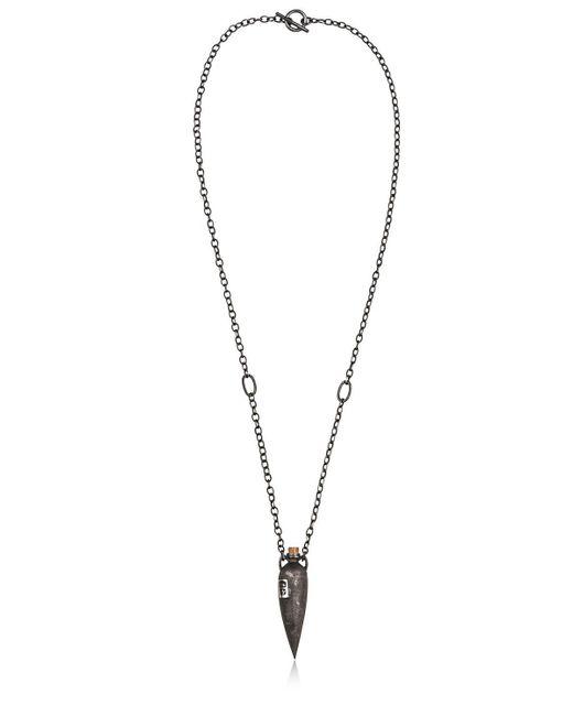 Henson | Black Skinny Vessel With Hallmarks Necklace for Men | Lyst