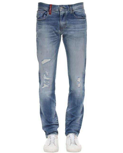 メンズ Armani Exchange Medium Blue Wash ジーンズ 12.5oz