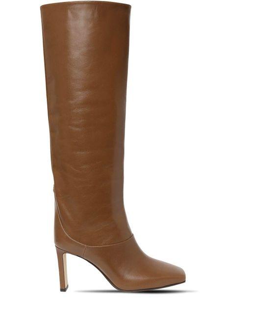 Кожаные Сапоги Mahesa 85mm Jimmy Choo, цвет: Brown