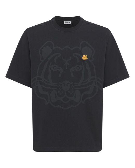 メンズ KENZO Tiger コットンtシャツ Black