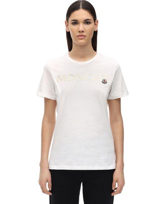 Moncler コットンジャージーtシャツ White