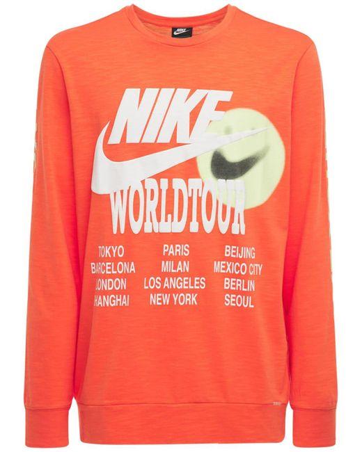 メンズ Nike World Tour Tシャツ Orange