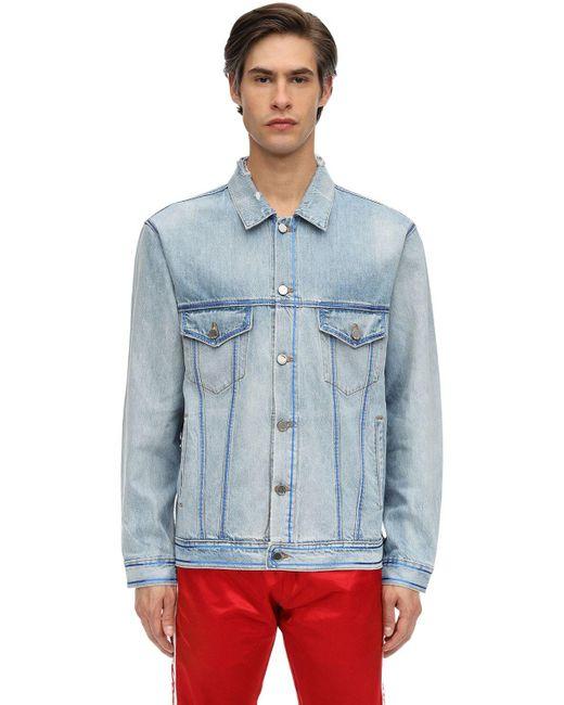 Just Don Jacke Aus Baumwolldenim Mit Druck in Blue für Herren