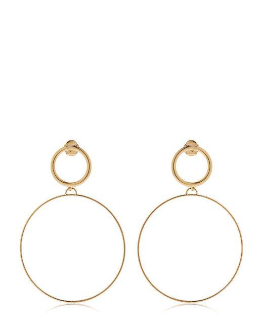 Maria Francesca Pepe | Metallic Hoops I Did It Again Earrings | Lyst
