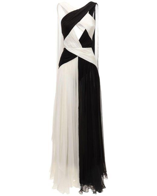 Длинное Платье Из Шёлкового Шифона Zuhair Murad, цвет: Black