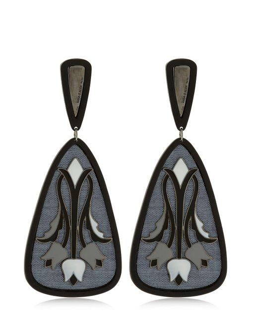 Anna E Alex | Black Tulipano Earrings | Lyst