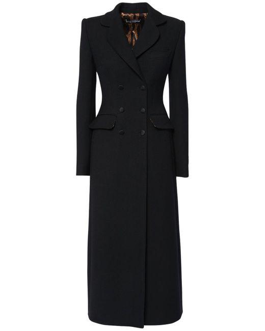 Dolce & Gabbana ウールクレープコート Black