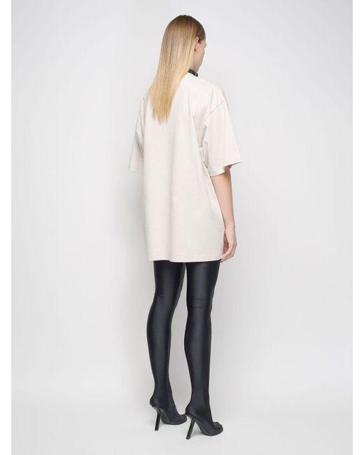 Balenciaga オーバーサイズオーガニックコットンジャージーtシャツ Natural