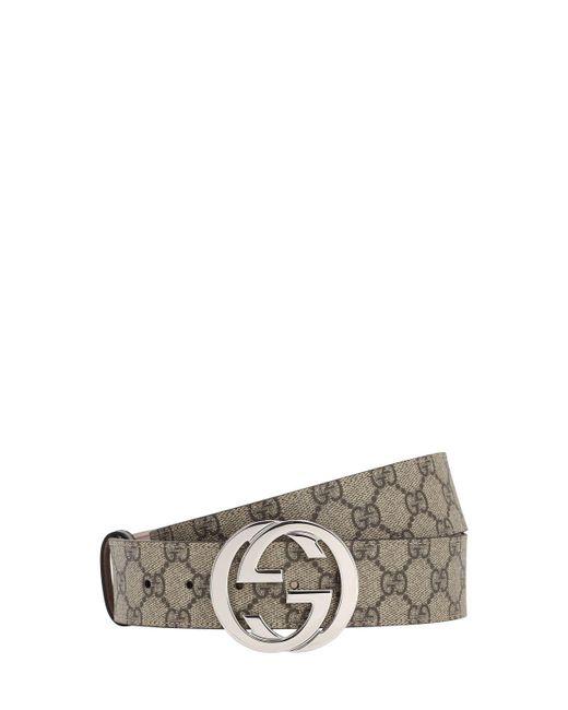 Gucci Natural GG Supreme Canvas Belt for men