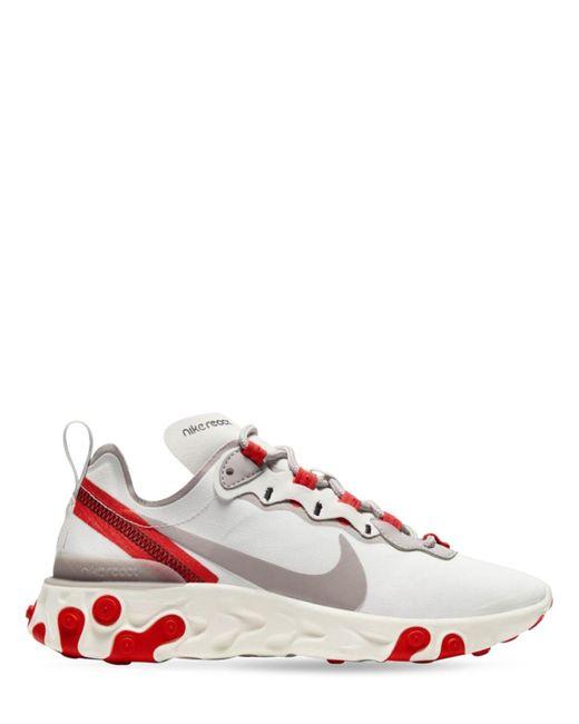 Nike React Element 55 スニーカー Red