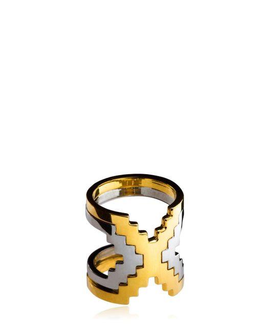 Monica Sordo Metallic Kavanagh Ring