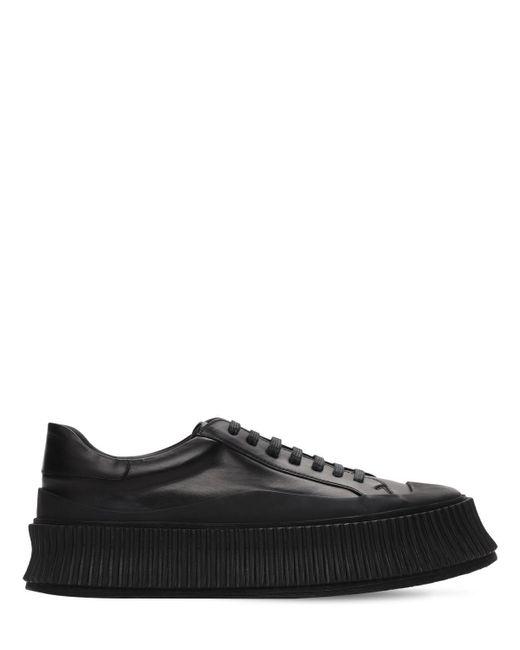 Кроссовки Из Вулканизированной Кожи 40мм Jil Sander, цвет: Black