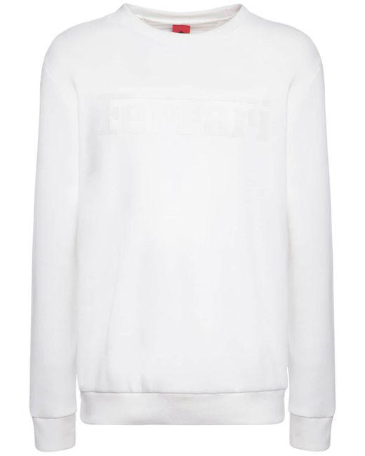 メンズ Ferrari コットンブレンドスウェットシャツ White