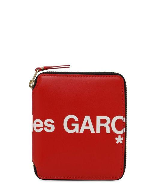Кожаный Кошелёк С Логотипом Comme des Garçons для него, цвет: Red