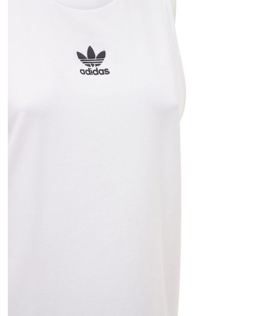 Débardeur Avec Logo adidas Originals en coloris Blanc - Lyst