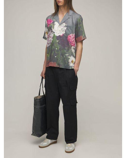 メンズ Soulland Orson Floral サテンシャツ Multicolor