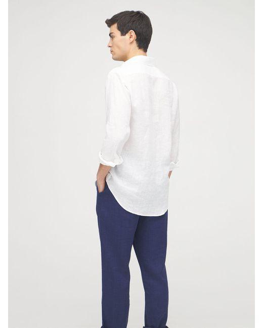 メンズ Frescobol Carioca Antonion リネンシャツ White