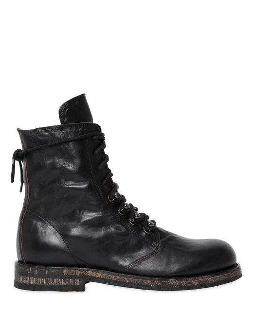 Ann Demeulemeester   Black 20mm Washed Leather Ankle Boots   Lyst