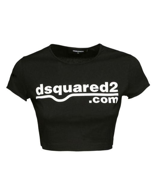 DSquared² コットンジャージーtシャツ Black