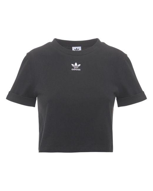 Adidas Originals クロップトップ Black