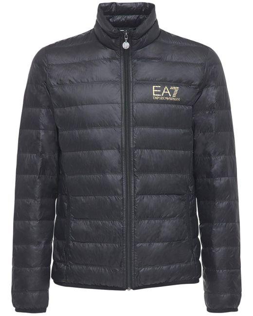 メンズ EA7 Train Core パッカブルライトダウンジャケット Black