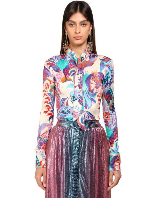 Paco Rabanne ビスコースシャツ Multicolor