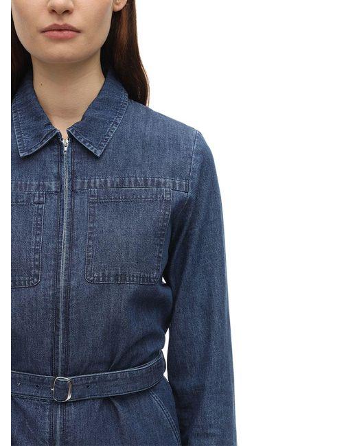 A.P.C. コットンデニムジャンプスーツ Blue
