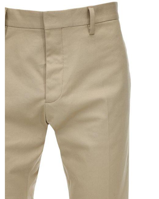 Pantalon Cool Guy En Twill De Coton Stretch 17 Cm DSquared² pour homme en coloris Natural