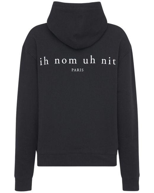 メンズ Ih Nom Uh Nit Heritage コットンフーディー Black
