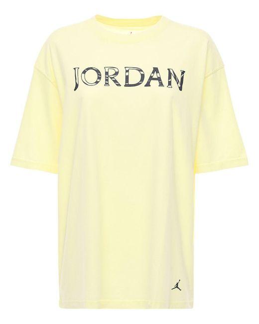 Nike J ユーティリティジャージーtシャツ Yellow