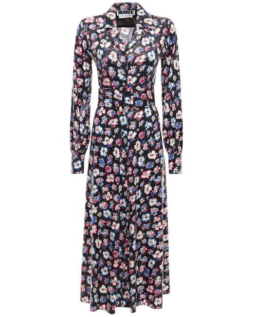 Платье Jojo С Цветочным Принтом ROTATE BIRGER CHRISTENSEN, цвет: Blue