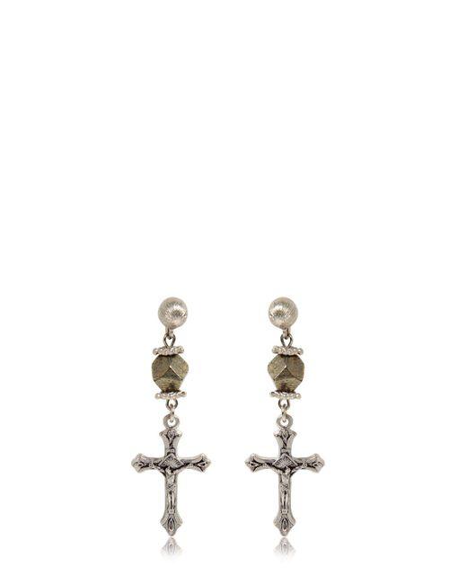 Givenchy | Metallic Crucifix Earrings | Lyst