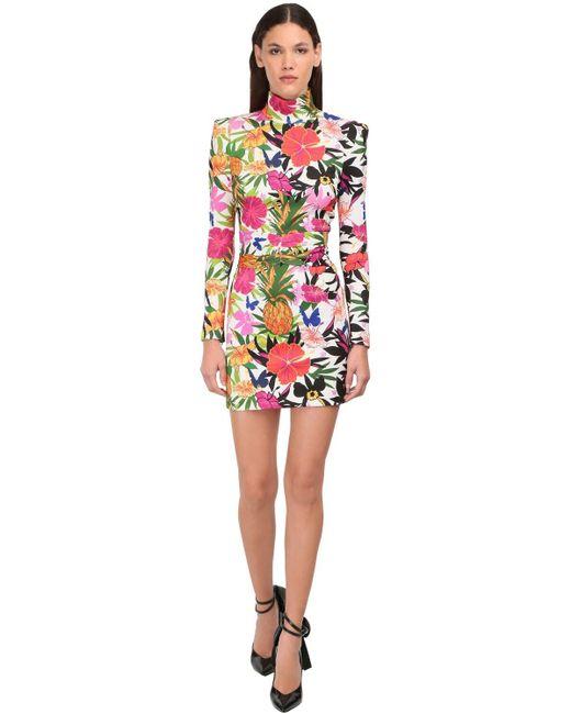 Dundas プリントハイネックドレス Multicolor