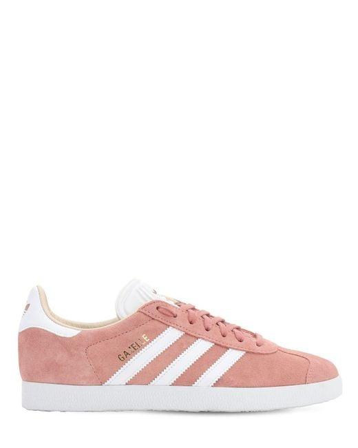 Adidas Gazelle Vintage Real Pink/ Ftw White/ Off White Daim adidas ...