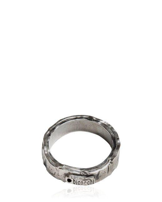 Emanuele Bicocchi | Metallic Flat Silver Ring | Lyst