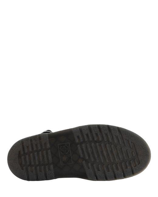 Босножки Из Кожи Geraldo Brando Dr. Martens для него, цвет: Black