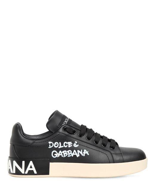 Dolce & Gabbana Portofino レザースニーカー 20mm Black