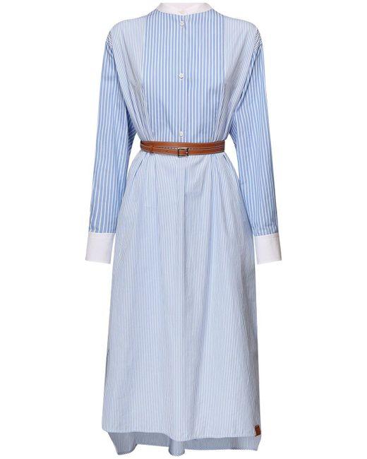 Loewe コットンポプリンシャツドレス Blue