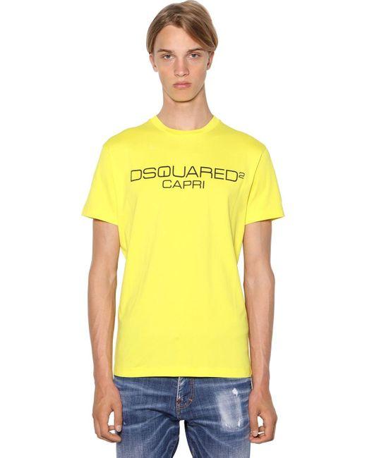 メンズ DSquared² Cool Fitコットンジャージーtシャツ Yellow