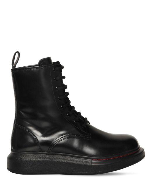 "Кожаные Ботинки ""hybrid"" 40мм Alexander McQueen, цвет: Black"