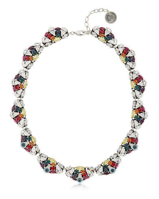 Anton Heunis - Metallic Crystal Leaf Necklace - Lyst