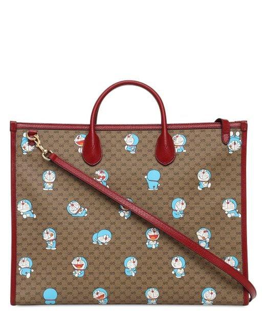 Gucci Doraemon Gg キャンバストートバッグ Red