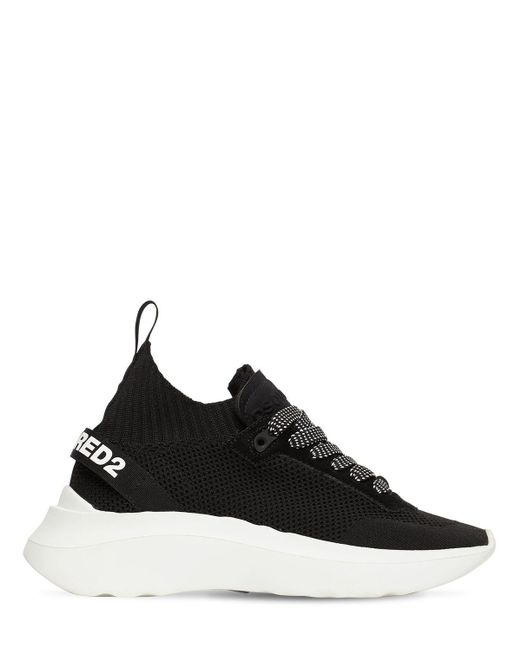 "DSquared² Black 40mm Hohe Sockensneakers Aus Strick ""speedster"""