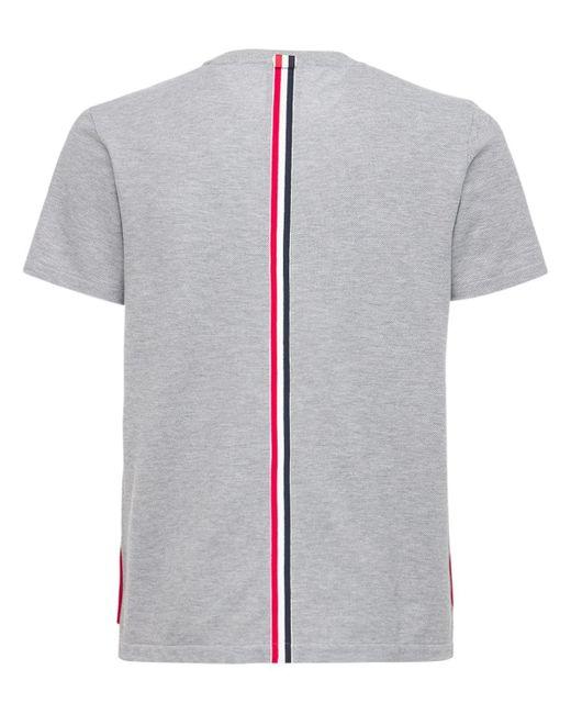 メンズ Thom Browne コットンジャージースウェットシャツ Gray