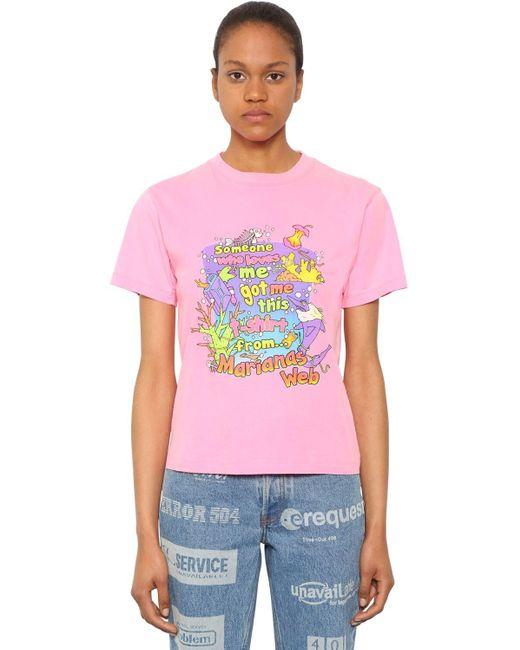 Vetements コットンジャージーtシャツ Pink