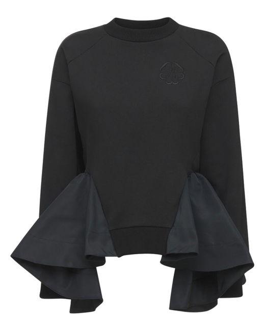 Felpa In Jersey Di Cotone Organico di Alexander McQueen in Black