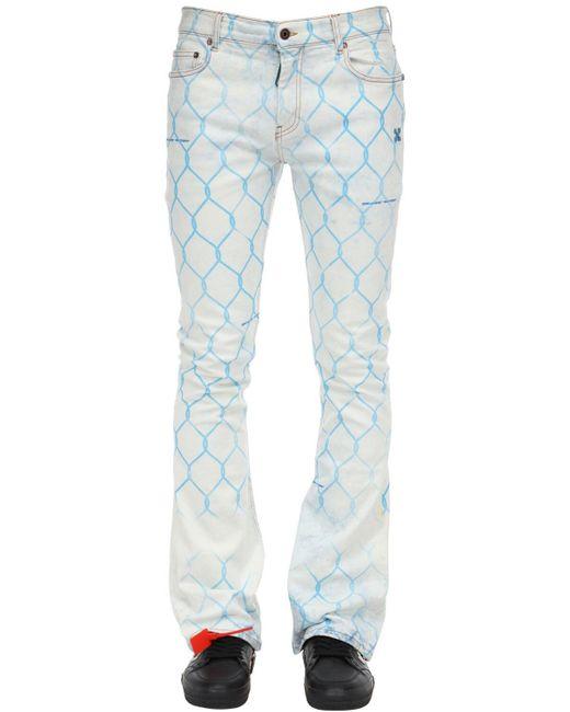 Джинсы Скинни Из Деним Off-White c/o Virgil Abloh для него, цвет: Blue